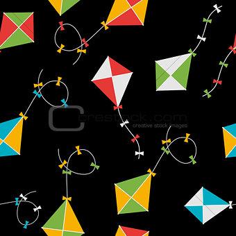 Kite Seamless Pattern Background Vector Illustration