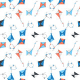 Kite Seamless Pattern Background Vector Illustration