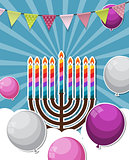 Abstract Background Happy Hanukkah, Jewish Holiday.