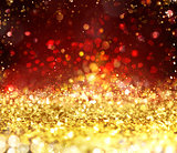 Xmas gold sparkly crystal background