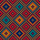 Seamless knitted colorful checkered pattern
