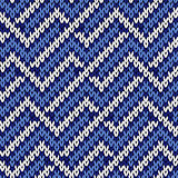 Seamless knitted wavy pattern in cool blue
