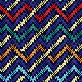 Seamless knitted multicolor wavy pattern