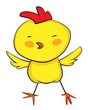 cute cartoon of baby rooster. Vector EPS 8.