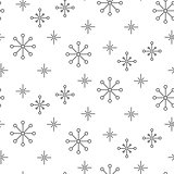 Vintage snowflake simple seamless pattern.