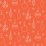 Christmas decoration seamless vector pattern.