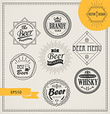 Vector alcohol logos and emblems