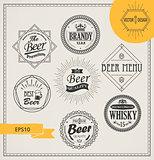 Vector alcohol logos and emblems