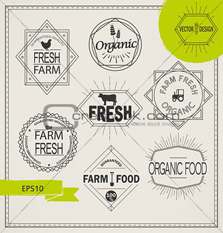 agriculture and organic farm logos