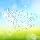 Spring time on bokeh background.