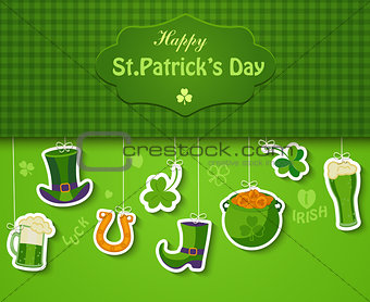 Poster, banner or background for Happy St Patricks day.