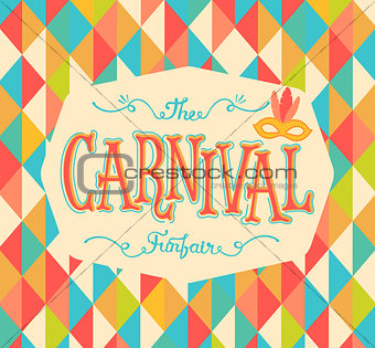 Carnival funfair background.
