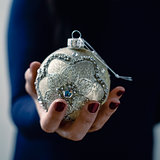woman with an elegant christmas ball