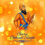 Happy Guru Gobind Singh Jayanti festival for Sikh celebration background