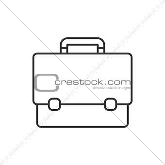 Briefcase thin line icon