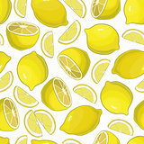 Seamless lemon pattern