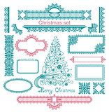 Vector Set of Christmas design elements