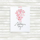 Vector mood board template, valentines day quote