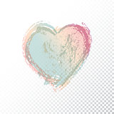 Vector hand drawn watercolor heart