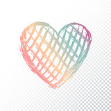Vector heart with gradient color