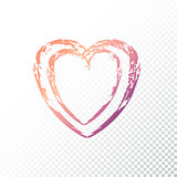 Vector gradient heart
