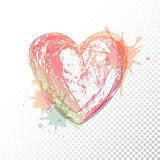 Vector watercolour heart