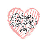 Vector Valentines day icon heart