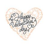 Vector doodle heart
