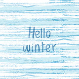 Vector winter grunge background in cold blue tones