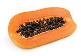 Half of papaya fruit