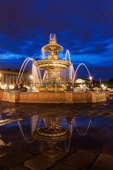 Fontaine des Fleuves on Place de la Concorde in Paris