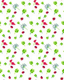 Clover and ladybird seamless pattern