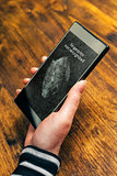 Fingerprint not recognized message on mobile smartphone device s