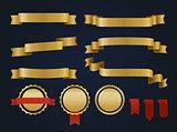 Golden ribbon set.