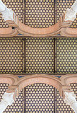 Hexagonal tiled interior roof from a building in Seville, Spain