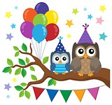 Party owls theme image 1