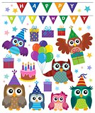 Party owls theme set 1