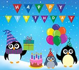 Party penguin theme image 2