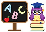 Stylized school owl theme image 1