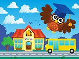 Stylized school owl theme image 2