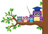 Stylized school owl theme image 5