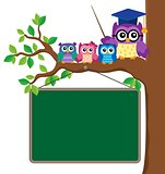 Stylized school owl theme image 6