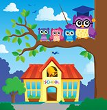 Stylized school owl theme image 7