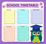 Weekly school timetable subject 4