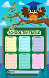 Weekly school timetable subject 5