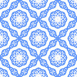Blue Ornamental Seamless Pattern