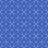 Blue Ornamental Seamless Line Pattern