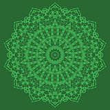 Mandala Isolated. Round Ornament