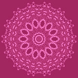 Mandala Isolated on Pink Background