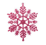 Christmas snowflake on white